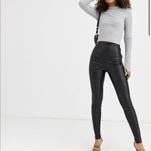 ASOS - Faux leather leggings - pants